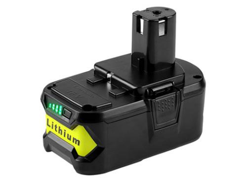 電池,替代利優比電池RYOBI 18V /P103 /P108/手電筒鑽鋰電池電動工具配件5000mah在線供應